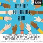 cartel curso de dinamización para la participación juvenil