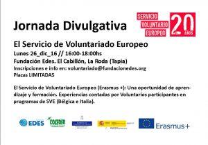 cartel invitacion jornada sobre servicio voluntariado europeo