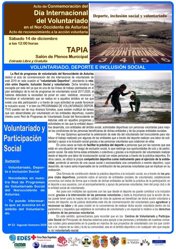 hoja semestral de la red de programas de voluntariado del noroccidente de asturias